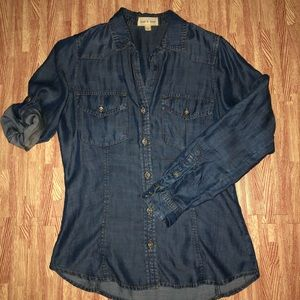Cloth and Stone Chambray Denim Shirt Small GUC